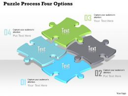0914_business_plan_puzzle_process_four_options_powerpoint_template_Slide01
