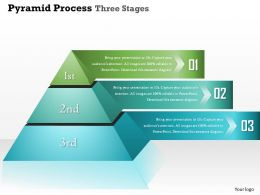 0914 Business Plan Pyramid Process Three Stages Info Graphic Powerpoint Presentation Template