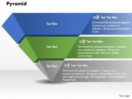 0914 Business Plan Pyramid With Three Stages Graphic Slide Powerpoint Template