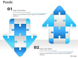 0914 Business Plan Reverse Arrows Puzzle Pieces Image Slide Powerpoint Template