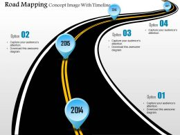 0914 Business Plan Road Mapping Concept Image With Timeline Powerpoint Presentation Template