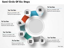 0914 Business Plan Semi Circle Of Six Steps Process Image Slide Powerpoint Template