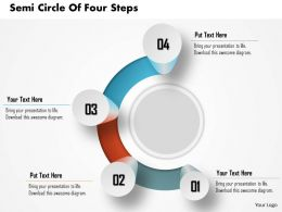 0914 Business Plan Semi Circle With Four Steps Image Slide Powerpoint Template