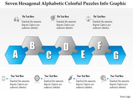 0914 Business Plan Seven Hexagonal Alphabetic Colorful Puzzles Info Graphic Powerpoint Presentation Template