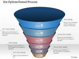 0914 Business Plan Six Options Funnel Process Powerpoint Template