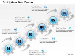 0914 Business Plan Six Options Gear Process Powerpoint Template