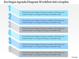 0914 Business Plan Six Stages Agenda Diagram Workflow Info Graphic Powerpoint Presentation Template