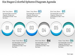 0914 Business Plan Six Stages Colorful Spheres Diagram Agenda Powerpoint Presentation Template