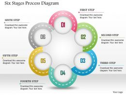 0914 Business Plan Six Stages Process Diagram Powerpoint Template