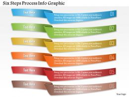 0914 Business Plan Six Steps Process Info Graphic Powerpoint Template