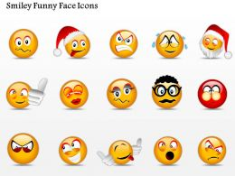 0914 Business Plan Smiley Funny Face Icons Powerpoint Template