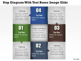 0914 Business Plan Step Diagram With Text Boxes Image Slide Powerpoint Template