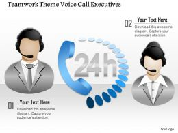 0914 Business Plan Teamwork Theme Voice Call Executives Powerpoint Template