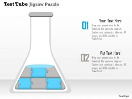 0914 Business Plan Test Tube Jigsaw Puzzle Conceptual Powerpoint Presentation Template