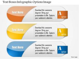 0914 Business Plan Text Boxes Infographic Options Image Slide Powerpoint Template
