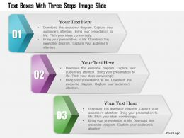 0914 Business Plan Text Boxes With Three Steps Image Slide Powerpoint Template