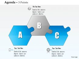 0914 Business Plan Three Alphabetic Blocks Agenda Diagram Powerpoint Presentation Template
