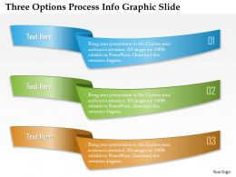 0914 Business Plan Three Options Process Info Graphic Slide Powerpoint Template