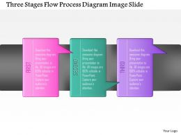 0914 Business Plan Three Stages Flow Process Diagram Image Slide Powerpoint Template