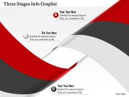 0914 Business Plan Three Stages Info Graphic Powerpoint Template