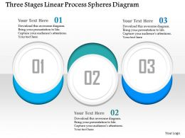 0914 Business Plan Three Stages Linear Process Spheres Diagram Powerpoint Presentation Template