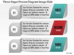 0914 Business Plan Three Stages Process Diagram Image Slide Powerpoint Template