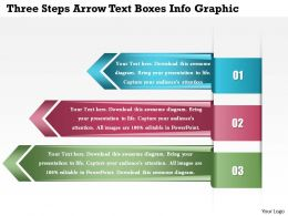 0914 Business Plan Three Steps Arrow Text Boxes Info Graphic Powerpoint Template