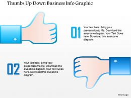 0914 Business Plan Thumbs Up Down Business Info Graphic Powerpoint Template
