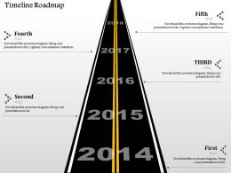0914 Business Plan Timeline Roadmap Info Graphic Powerpoint Presentation Template