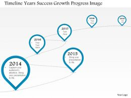 0914 Business Plan Timeline Years Success Growth Progress Image Slide Powerpoint Template