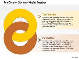 0914_business_plan_two_circular_disk_inter_mingled_together_powerpoint_presentation_template_Slide01