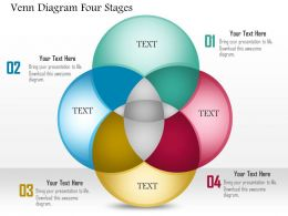 0914 Business Plan Venn Diagram Four Stages Powerpoint Template