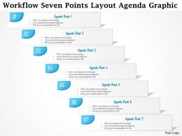 0914 Business Plan Workflow Seven Points Layout Agenda Graphic Powerpoint Presentation Template