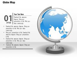 0914 Business Plan World Globe With Stand Graphic PowerPoint Presentation Template