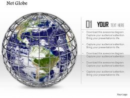 0914 Caged Globe Web Network Image Slide Image Graphics For Powerpoint