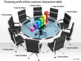 0914 Chairs With Table Bar Graph Image Slide Image Graphics For Powerpoint