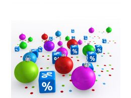 0914 Christmas Balls With Dices For Party And Celebration Stock Photo