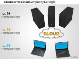 0914 Client Server Cloud Computing Concept Image Graphics For PowerPoint