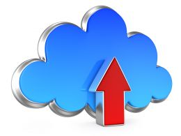 0914 Cloud Computing Upload Application Icon Stock Photo