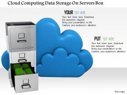 0914 Clouds With File Drawers For Data Storage Image Graphics For PowerPoint