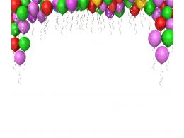 0914 Colorful Balloons For Decoration Of Birthday Party Stock Photo