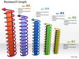 0914 Colorful Bar Graph With Arrows Image Graphics For PowerPoint