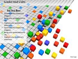 0914 Colorful Cubes In Between Grey Cubes Image Graphics For PowerPoint
