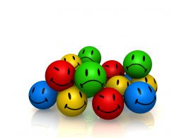 0914 Colorful Emotion Smileys In Pile Graphic Stock Photo