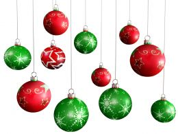 0914 Colorful Hanging Balls For Christmas Theme Stock Photo