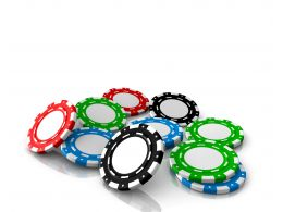 0914 Colorful Poker Chips Finance Game Image Graphic Stock Photo