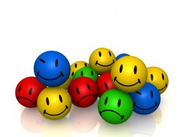 0914 Colorful Smileys Emotion Icons Image Graphic Stock Photo
