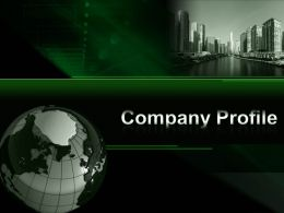 0914 Company Profile Powerpoint Presentation