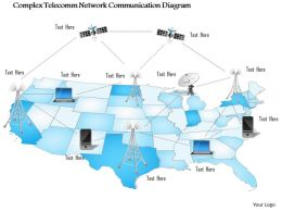 0914 Complex Telecomm Network Communication Diagram Networking Wireless Mobile Ppt Slide