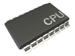0914 Computer Cpu Technology Processor Chip Stock Photo